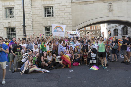 The Jewish group at Pride in London 2017 - Photo by Gilad Visotsky